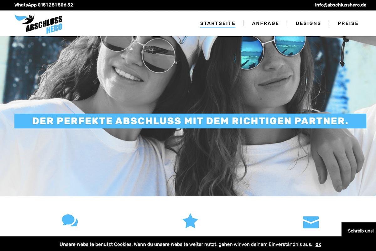 Abschlusshero webseite