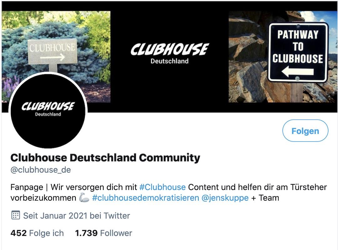 Clubhouse Deutschland